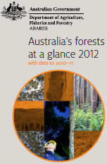Front page of Australia's forests at a glance 2012