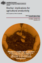 Front page of Biochar: implications for agricultural productivity