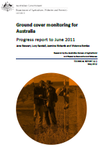 Front page of Ground cover monitoring for Australia Progress report to June 2011 (Technical Report 12.1)