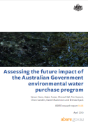 Front page of Assessing the future impact of the Australian Government environmental water purchase program