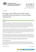 Front page of Energy use reduction and input productivity growth in Australian industries (Conference paper 11.04)